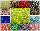 CHOOSE COLOR! 25pcs 8mm Czech Glass Round Pressed Beads $4.4 USD