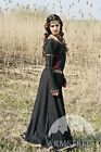 "Medieval Black Cotton Dress ""Lady Hunter"" ""Handmade"" Custom Made for Women"