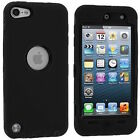 FOR iPod Touch 5th Gen -HARD & SOFT RUBBER IMPACT ARMOR CASE HYBRID COVER CASE