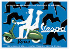 Vintage French Vespa Scooter Advertisement Poster 1950s Villemot Retro Piaggio