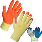12 PAIRS BUILDERS LATEX RUBBER WORK GLOVES GARDENING PROTECTIVE DIY CONSTRUCTION