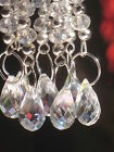 AB Crystal Glass Teardrop Wedding Wishing Tree Hanging Decorations Set of 1or5