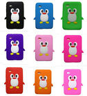 Cute Kids 3D Cartoon Penguin Silicone Case For Samsung Galaxy Tab2 7-INCH Tablet