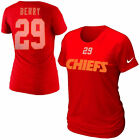 NIKE NFL KANSAS CITY CHIEFS ERIC BERRY Womens Name & Number Red Jersey T-Shirt