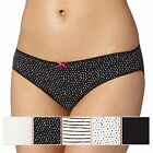 Debenhams Womens Pack Of Five Black And White Bikini Briefs From Debenhams