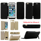 7000mAh External Battery Backup Charger Flip cover Case For i6 I6 iPhone 6 4.7''