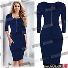 Womens Celeb  Slim Fit Evening Party Bodycon Pencil Career  Dresses Size 102468