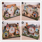 COUNTRY COTTAGE MANOR HOUSE CASTLE STYLE QUARTZ NOVELTY DESK CLOCK XMAS GIFT