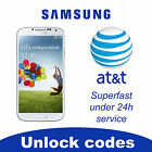 UNLOCK SERVICE CODE FOR AT T SAMSUNG GALAXY S2,S3,S4,S5 NOTE 2,3 TAB CLEAN IMEI