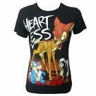 CUPCAKE CULT ZAMBY T SHIRT BAMBI GOTHIC EMO CARTOON POIZEN DISNEY HEARTLESS