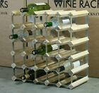 WINE RACK 30 BOTTLE CLASSIC WOOD AND METAL DESIGN