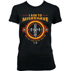 9248L I Aim To Misbehave T-Shirt Serenity Firefly Browncoat Blue Sun Corporation