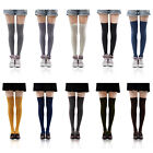 Womens Over Knee Long Casual Thick Thigh High Plain Cotton Overknee Socks