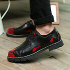 Retro Mens Casual British Pieced Lace Up Brogue Vintage Chic Flats Dress Shoes