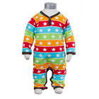BNWT JNY Design Baby Striped Stars Sleepsuit NEW Organic Cotton Rainbow Romper