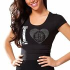 Brooklyn Nets Women's Touchback Slim Fit T-Shirt - Black