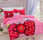 Hello Kitty Kids 100% Cotton 4pcs Sets Duvet Cover Bedding Set Home Textiles