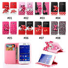 Hot Fashion Bow Cartoon Wallet Stand Flip Leather Case for Samsung Galaxy Phone