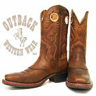 Ariat Men's Heritage Roughstock Brown Oiled Rowdy Square Toe Boots 10002227