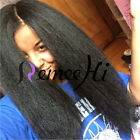 "14"" ~ 20"" Full/Front Lace Wigs Brazilian Human Hair Kinky Straight Density 150%"
