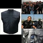 Veste Gilet cuir Biker Harley Type Sons of Anarchy leather vest chaleco Harley