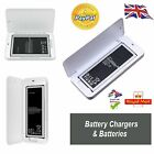 Battery chargers for Samsung galaxy (extra battery kit/case/cover ) + batteries