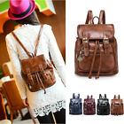Women's Small Mini Faux Leather Drawstring Backpack Rucksack Travel Casual Purse