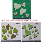 ASSORTED SIZE HEARTS - HANDMADE, CERAMIC MOSAIC TILES ( Pick you Group) #2