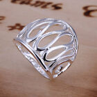 *UK* 925 SILVER PLT (N 1/2 - Q) BAND RINGS MENS / LADIES STATEMENT THUMB WOMENS <br/> Take a look at the item description for avaliable sizes