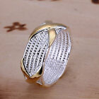 *UK* 925 Silver Plt P 1/2 8 Band Rings Mens Ladies Statement Thumb Womens Gift <br/> OVER 1800 SOLD! MANY HAPPY CUSTOMERS! FREE POSTAGE!