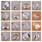 *uk* 925 Silver Plt (n 1/2 - Q) Band Rings Mens / Ladies Statement Thumb Womens