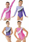 Girls Sparkle Gymnastics Lycra Leotard. All sizes! Gym/ Dance. PINK or PURPLE