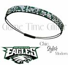 Philadelphia Eagles Team Color Womens Rhinestone Bling Headband Wear w/ Jersey