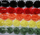 1 Yard Shabby Chiffon Sewing Corsage Hair Flowers Appliques Trim pick 15color