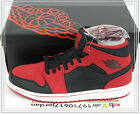 Nike Air Jordan 1 Mid Bred Black Gym Red Suede 554724-005 US 8 10.5 11.5 13