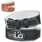 "VELO Weight Lifting 4"" Leather Belt Back Support Strap Gym Fitness Training"