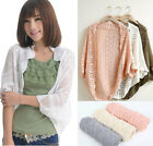 Summer Womens Casual Sleeve Cardigan Hollow Knit Knitwear Sweater Coat Outwear