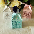 24/48/96 Cross Laser Cut Wedding Party Baptism Shower Favor Box White Blue Pink