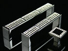 "3.75"" 5"" Rhinestone Drawer Knobs Handles Kitchen Cabinet Handle Silver 96 128 mm"
