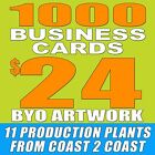 ➽ 1000 CUSTOM DOUBLE SIDED BUSINESS CARDS ➽ FREE SHIPPING! ➽ BYO ARTWORK