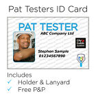 PAT tester ID card with holder + lanyard, custom made, individual or company