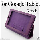 Flip PU Faux Leather Folio Case Stand Cover Stylus for Google Nexus 7 Tablet 7""