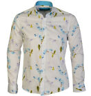 BNWT Mens Causal GUIDE LONDON LS73283 Long sleeve SHIRT White