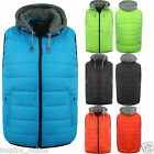 MENS SLIM FIT QUILTED PADDED LIGHTWEIGHT BOYS GILLET BODYWARMER JACKET COAT