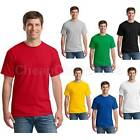 Exquisite Men T-Shirt Crew Neck Blank Basic Plain Tee Short Sleeve New Tops ATAU