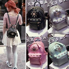 Women Small Mini Faux Leather Backpack Rucksack Travel Casual Purse Shoulder bag
