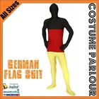 Mens Womens Zentai Germany German Flag Suit Oktoberfest Skin Costume All Sizes
