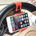 Universal Car Steering Wheel Clip Mount Holder Cradle Stand For Apple iPhone