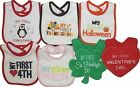 Carters Lot Bib Baby First Holiday Easter Halloween Xmas St Patricks Girls Boys