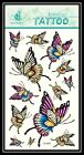 13 Styles Butterfly Animal Body Arm Leg Removable Temporary Tattoo Gift GF449